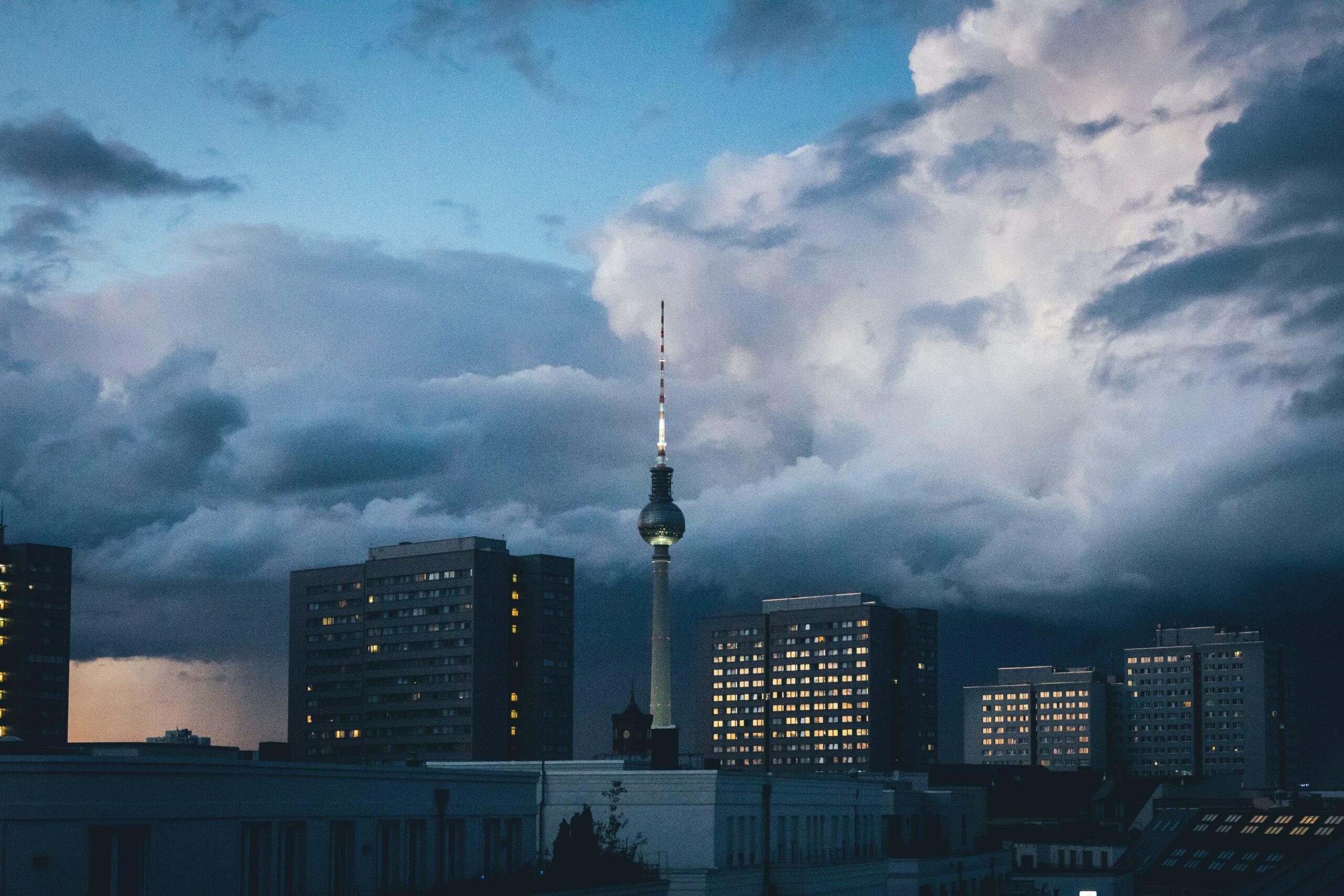 Berlin in der Dämmerung